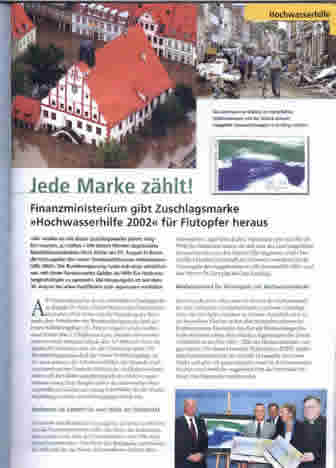 "A article about ""flooding"" stamp in the magazine"