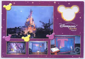 A postcard sent from Disneyland of Paris